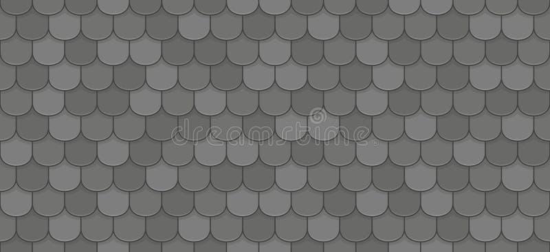 Telhas de telhado pretas ilustração stock