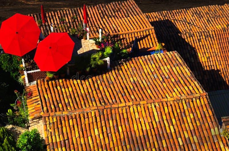 Telhas de telhado Puerto Vallarta México foto de stock