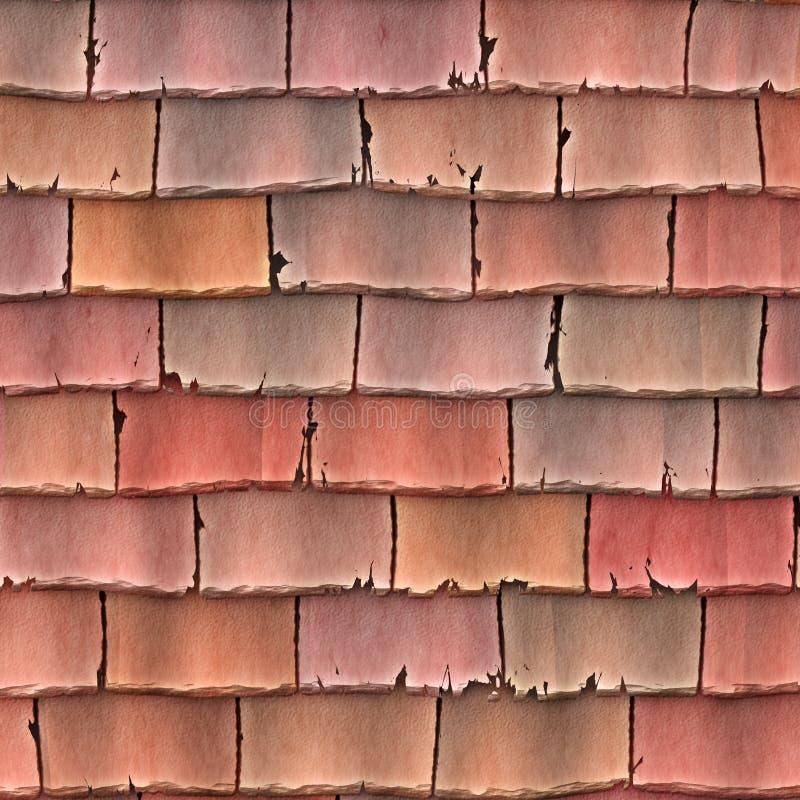 Telhas de telhado velhas fotos de stock
