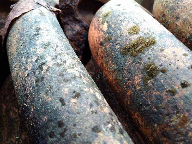 Telhas de telhado velhas /tiles da lama imagens de stock