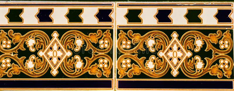 Telhas decorativas espanholas decorativas tradicionais, cerami original fotografia de stock royalty free