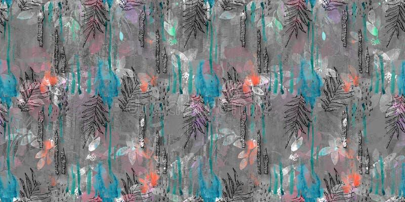 Telhas digitais da parede de Colorfull ilustração do vetor