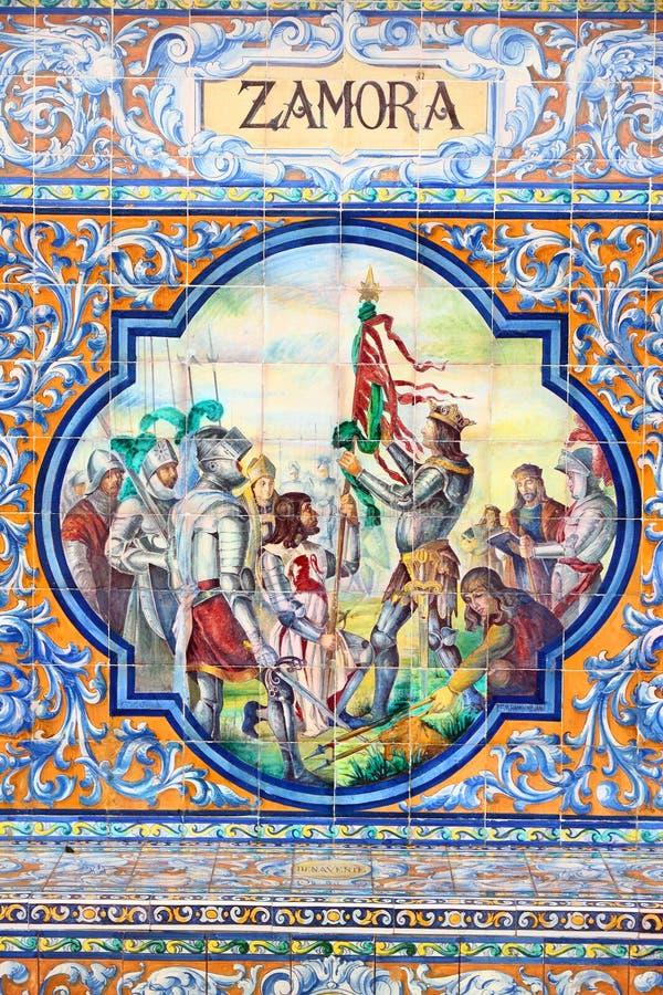 Telhas do azulejo de Zamora imagens de stock