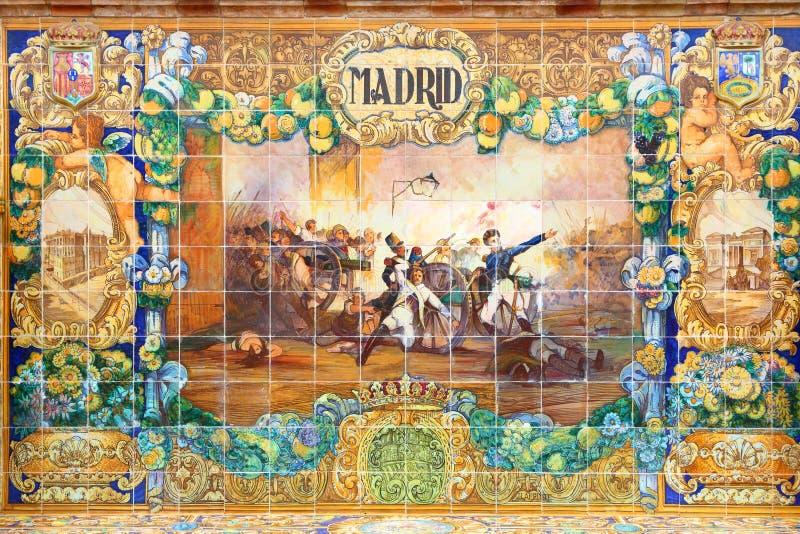 Telhas do azulejo do Madri fotos de stock royalty free