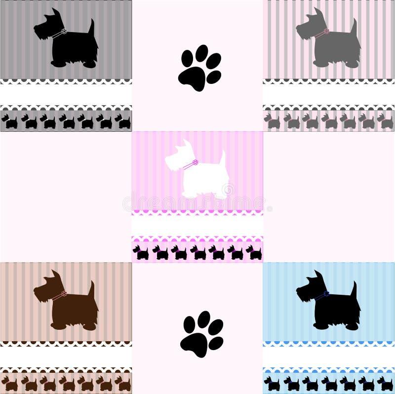 Telhas do cão do terrier de Westie ilustração royalty free