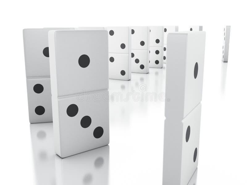 telhas do dominó 3d em seguido ilustração do vetor
