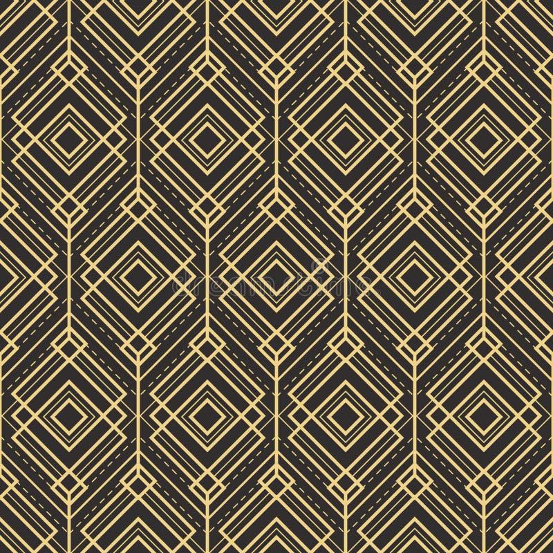 Telhas do fundo do teste padrão do deco da arte abstrato ilustração royalty free