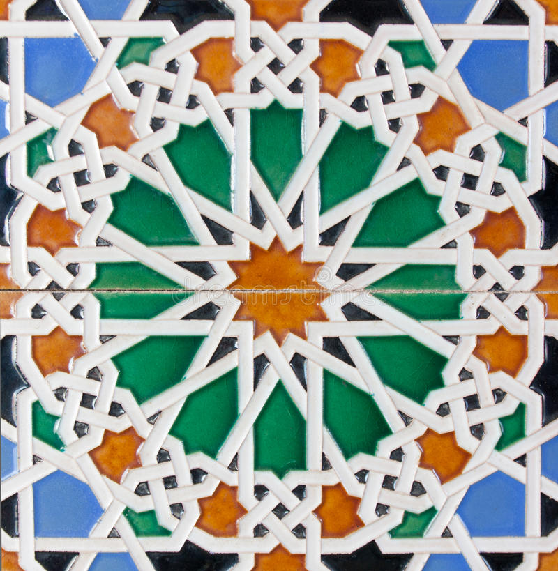 Telhas do Moorish fotografia de stock