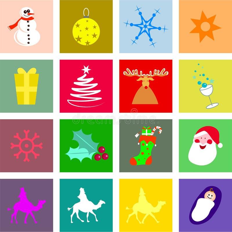 Telhas do Natal ilustração stock