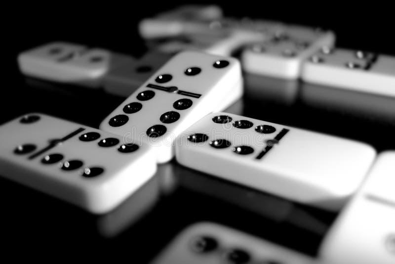 Telhas dos dominós imagens de stock royalty free
