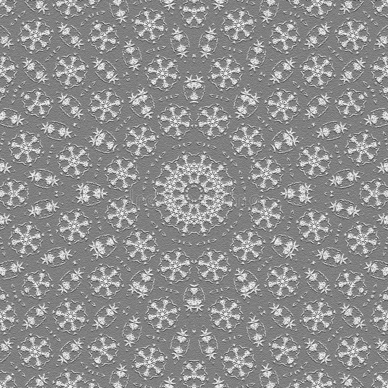 Telhas monocromáticas calidoscópicos do papel de parede ilustração stock