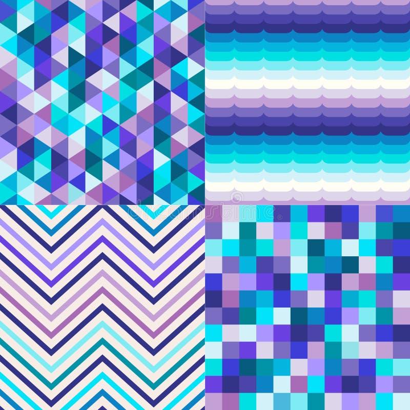 Telhas multicoloridos sem emenda fundo textured ilustração do vetor