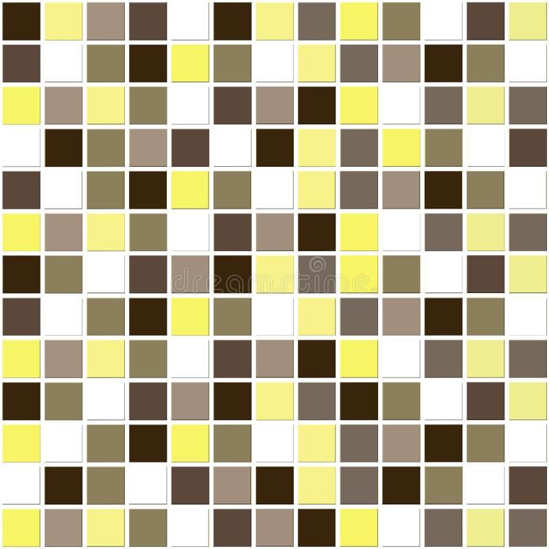 Telhas naturais do mosaico ilustração royalty free