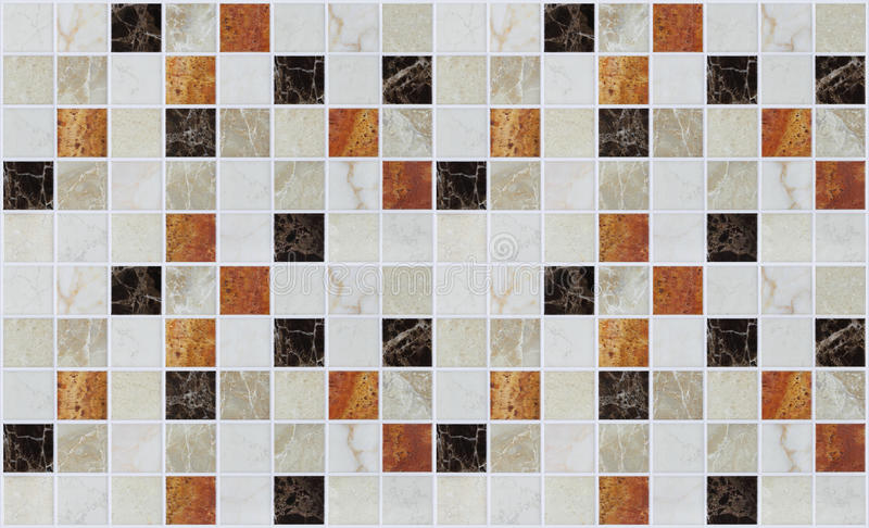 Telhas quadradas de mármore pequenas com efeitos da cor fotos de stock royalty free