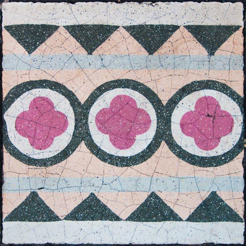 Telhas velhas portuguesas de tipo de tela de algodão imagens de stock