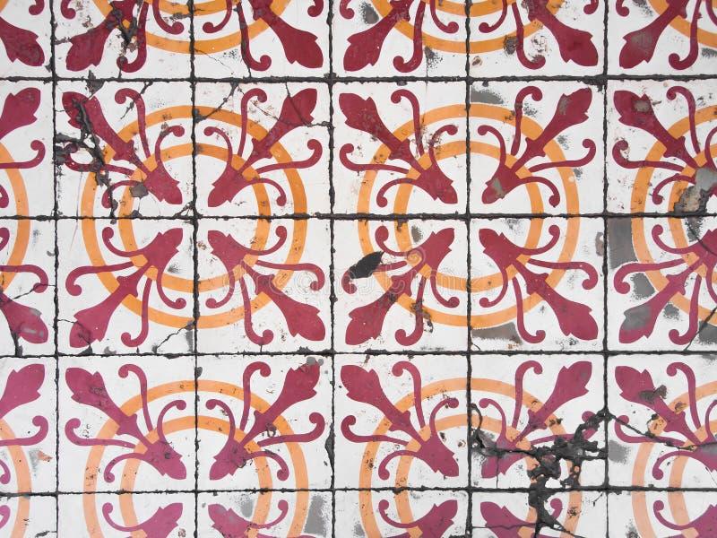 Telhas velhas portuguesas de tipo de tela de algodão fotos de stock