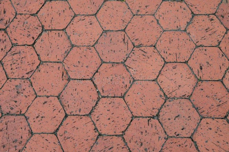 Telhas vermelhas da terracota do hexágono fotos de stock
