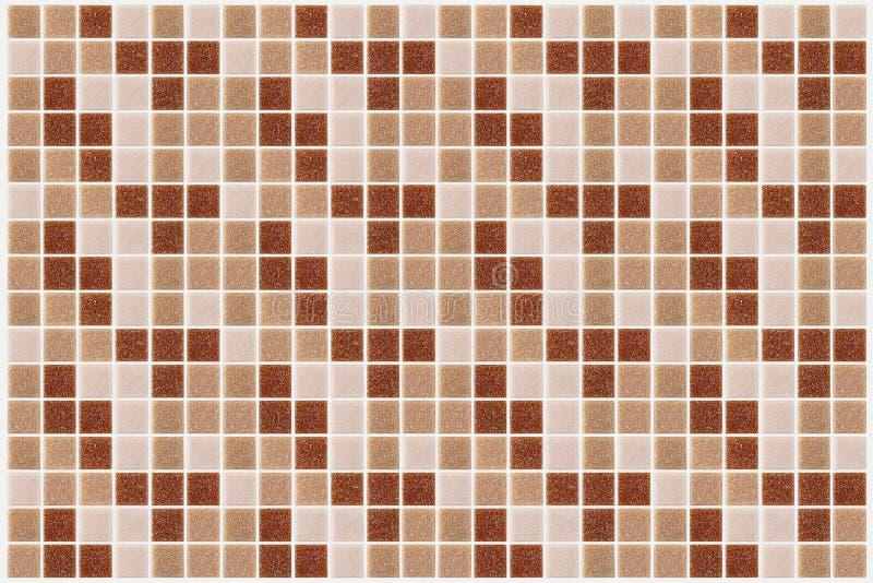 Telhe o quadrado do mosaico decorado com backg cor-de-rosa vermelho da textura do brilho foto de stock