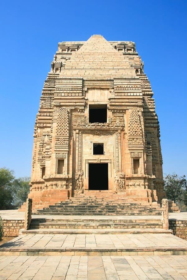 Teli ka Mandir, 9th århundradetempel i Gwalior royaltyfria bilder