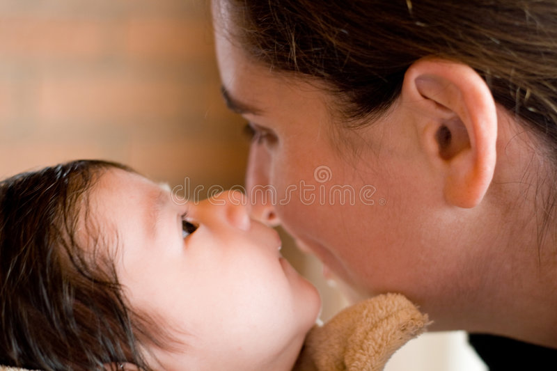 Download Tell Mommy a secret stock image. Image of curl, adorable - 5821673
