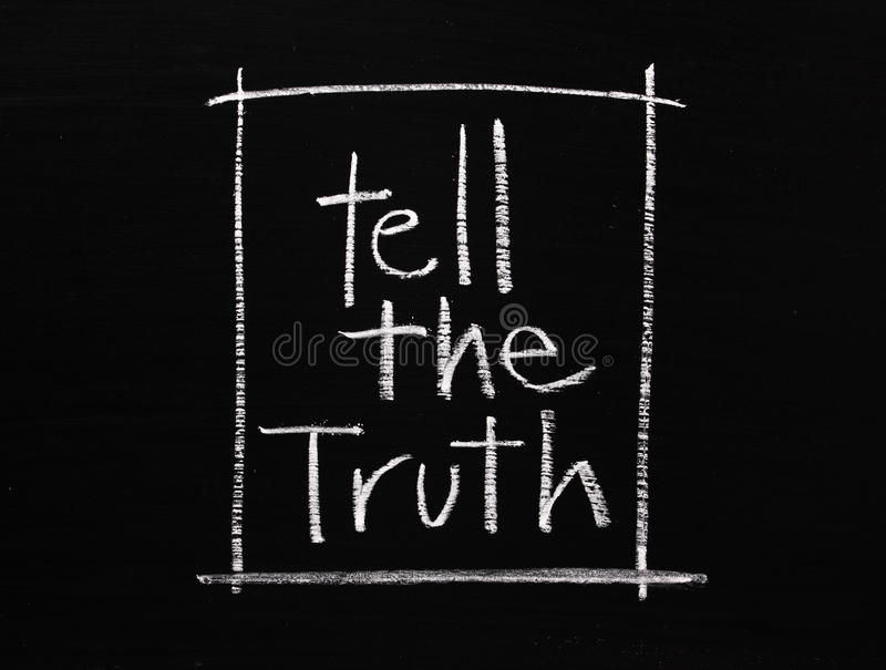 Tell the Truth royalty free stock image