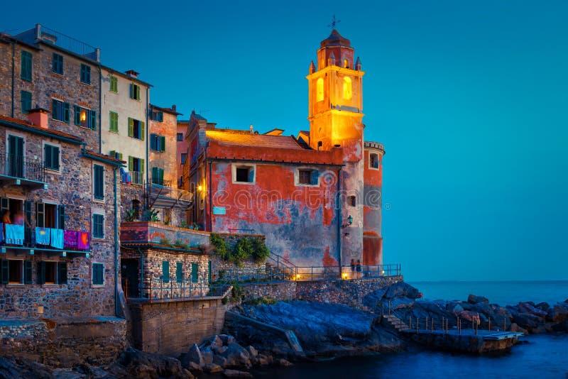 Tellaro i det Ligurian landskapet, Italien arkivfoto