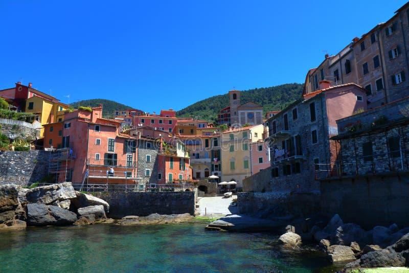 Tellaro, La Spezia, golfo de los poetas, Italia imagen de archivo libre de regalías