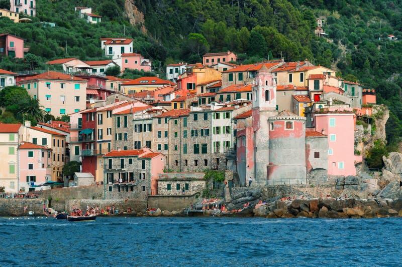 Tellaro Lerici, Λιγυρία Ιταλία στοκ φωτογραφίες