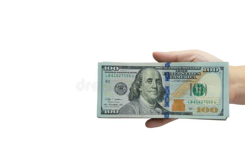Tellend geld royalty-vrije stock fotografie