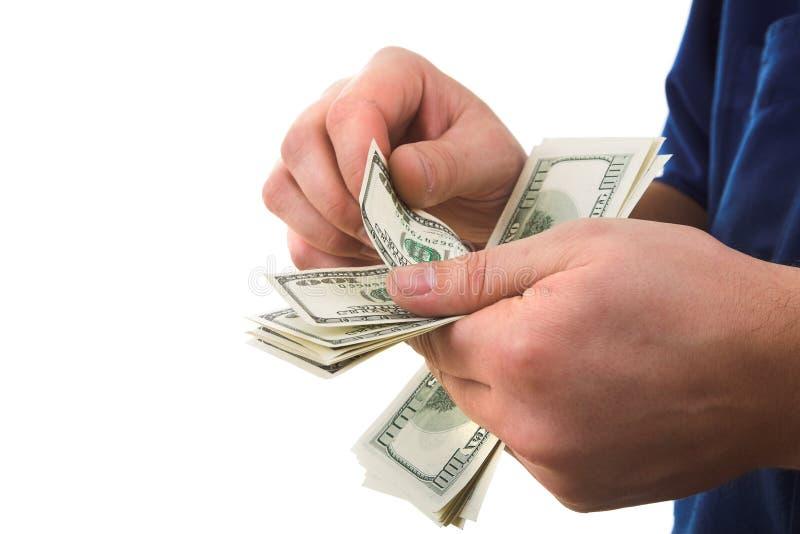 Tellend geld royalty-vrije stock afbeeldingen