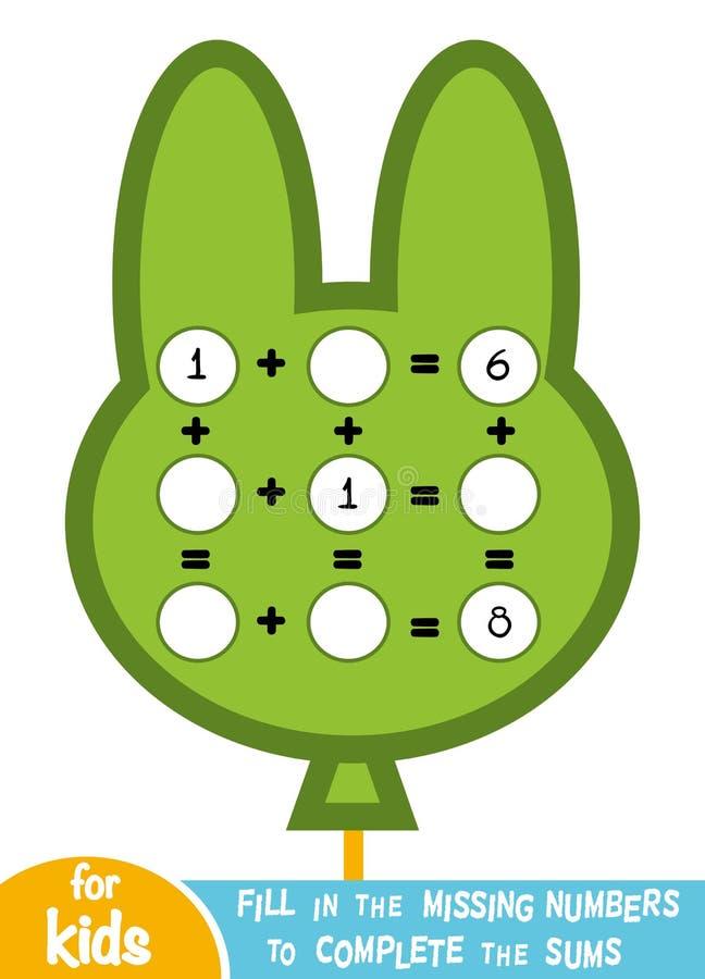Tellend Spel voor Kinderen Onderwijs een wiskundig spel vector illustratie