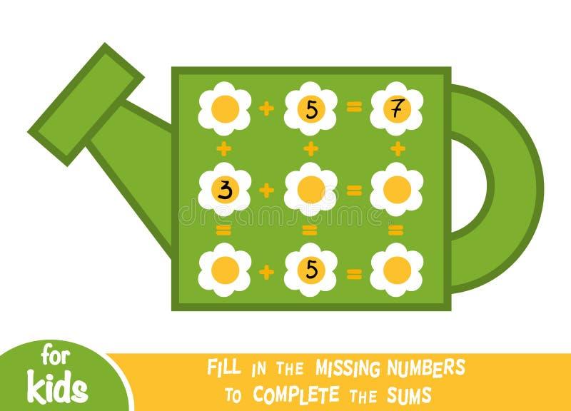 Tellend Spel voor Kinderen Onderwijs een wiskundig spel royalty-vrije illustratie