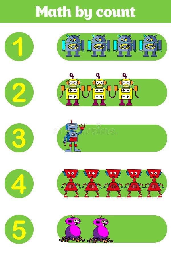 Tellend Spel voor Peuterkinderen Onderwijs een wiskundig spel vector illustratie