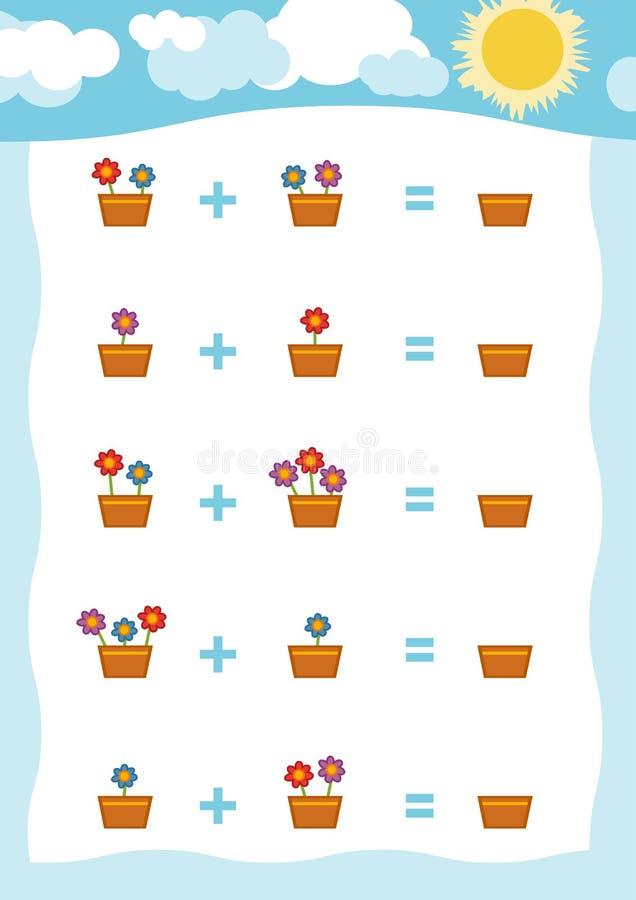 Tellend Spel voor Peuterkinderen Tel de aantallen vector illustratie