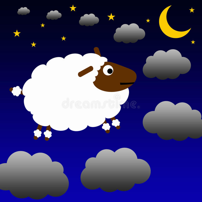 Tellende schapen royalty-vrije illustratie