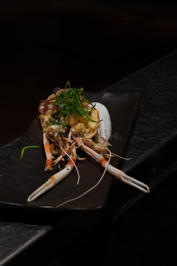 Teller der japanischen Krabbe lizenzfreies stockbild
