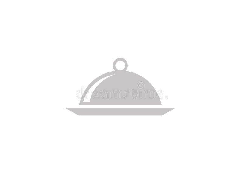 Teller der Nahrung für Logoentwurfsillustration vektor abbildung