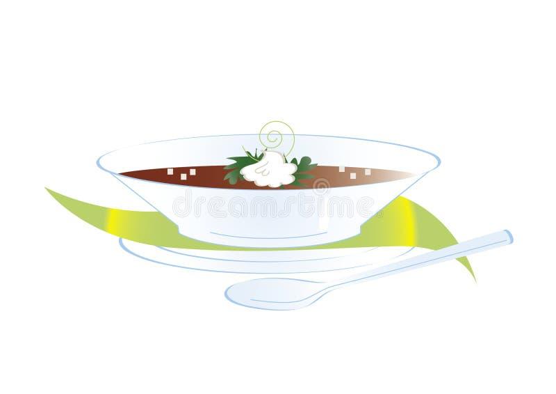 Teller der Suppe vektor abbildung