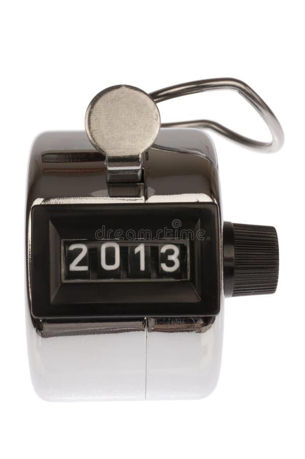 Teller met datum bij 2013 royalty-vrije stock foto's