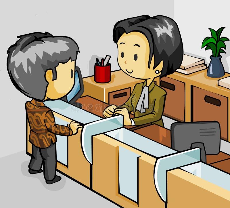 Teller op Bank royalty-vrije illustratie