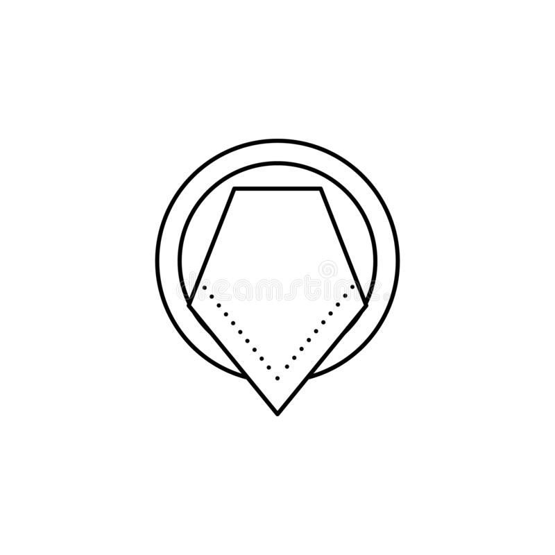 Teller, Serviette, Tabellenetikettenikone Kann für Netz, Logo, mobiler App, UI, UX verwendet werden stock abbildung