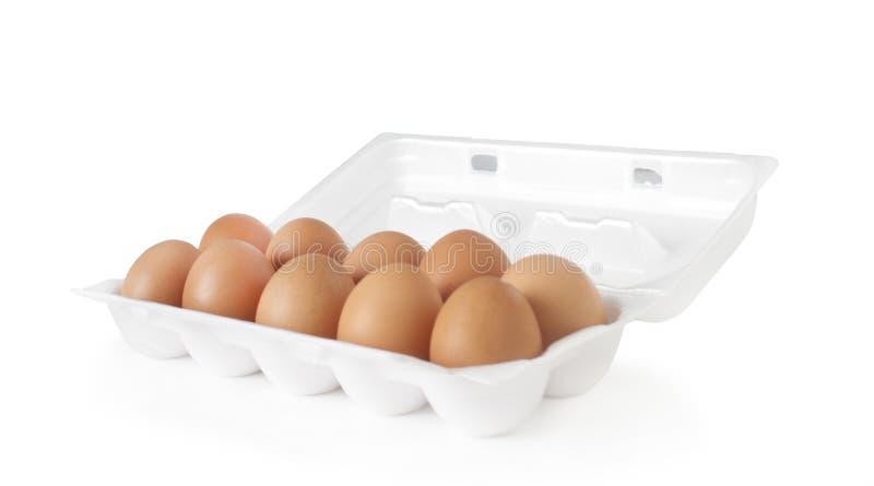 Tellersegment der Eier lizenzfreie stockbilder