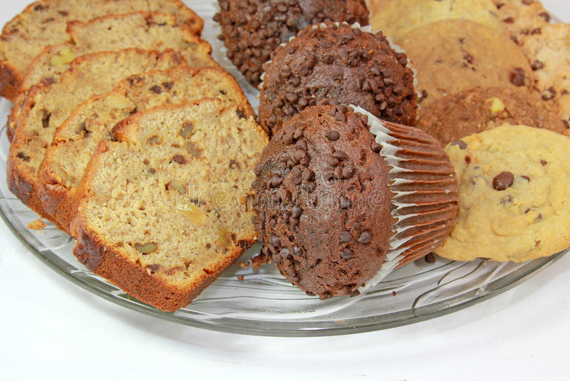 Tellersegment des Bäckers stockbilder