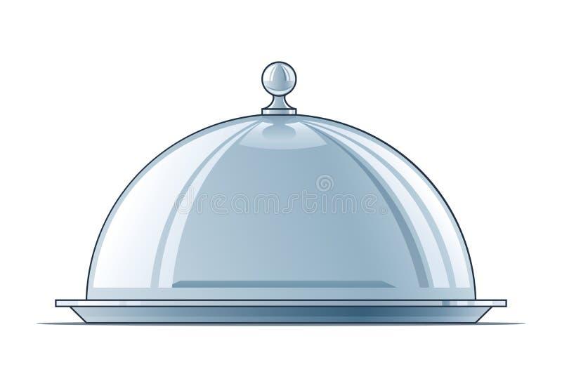 Tellersegment mit Kappe vektor abbildung