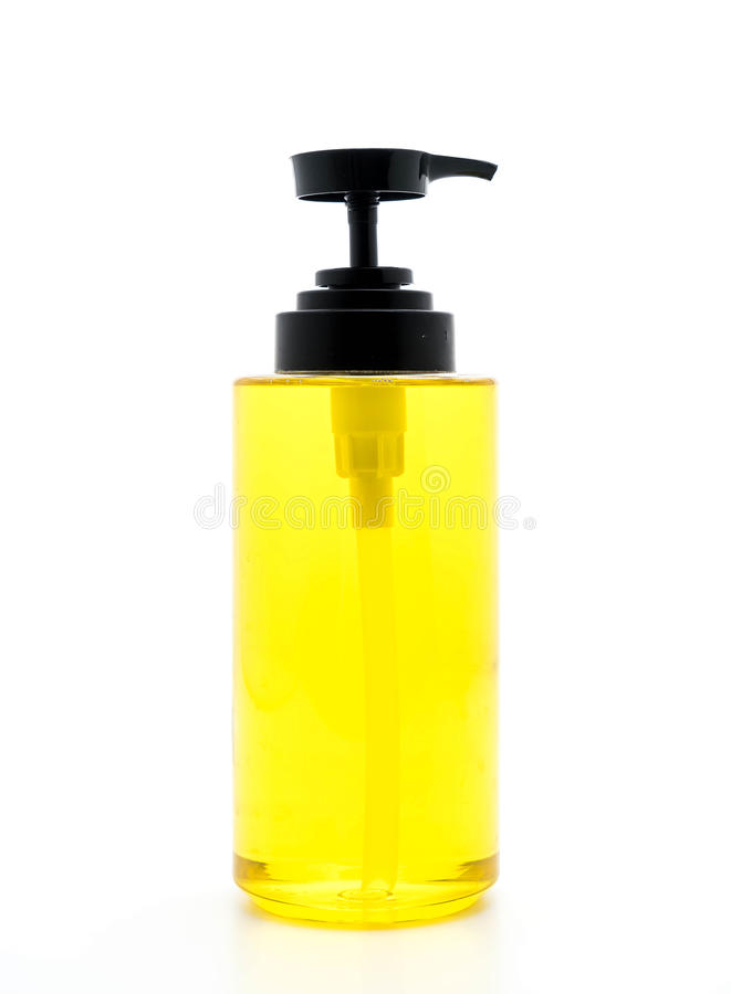 Tellerwaschseife in der Flasche lizenzfreie stockfotos