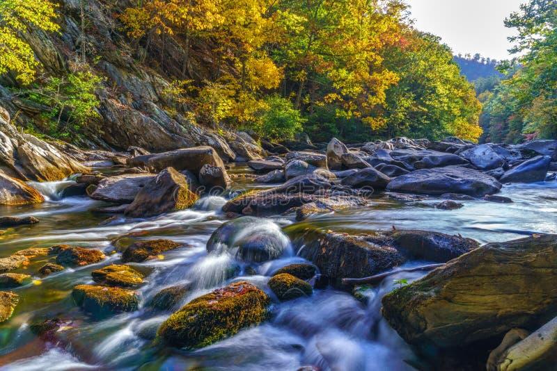Tellico rzeka zdjęcie stock