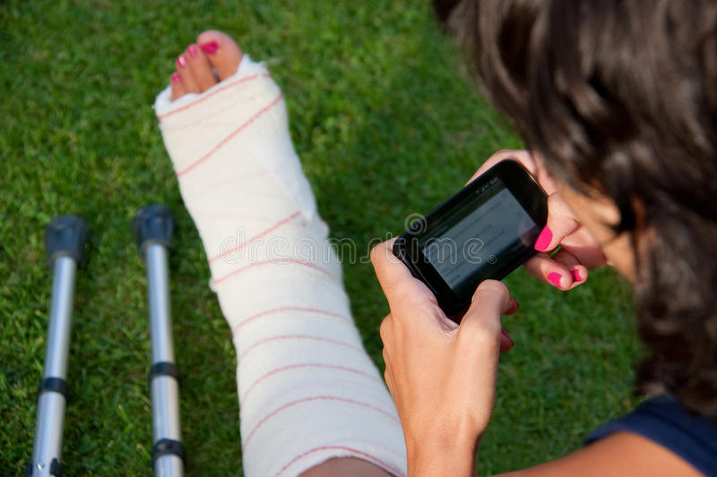 Download Telling Friends The Accident Stock Image - Image: 26637017