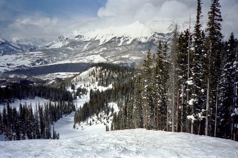 telluride σκι ίχνος στοκ εικόνα