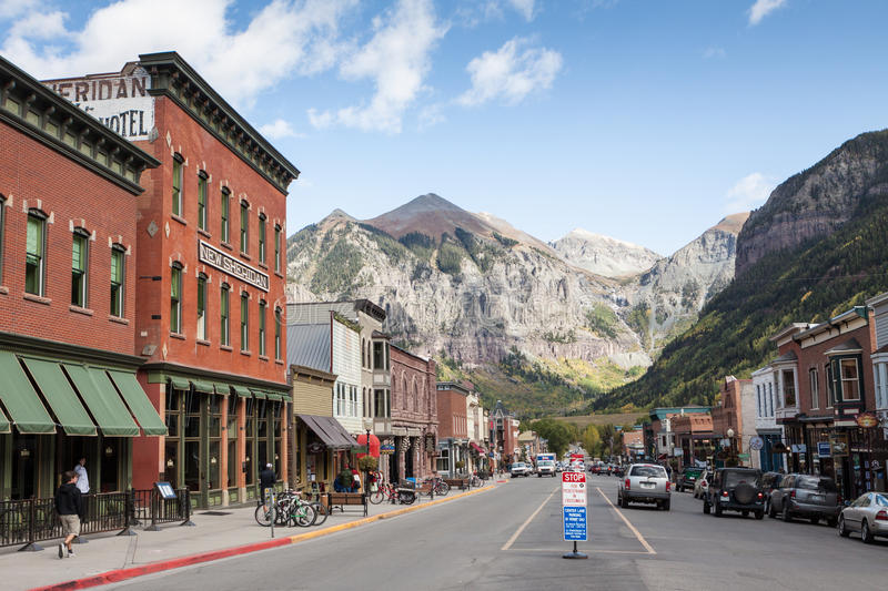 Telluride, Colorado stock photography