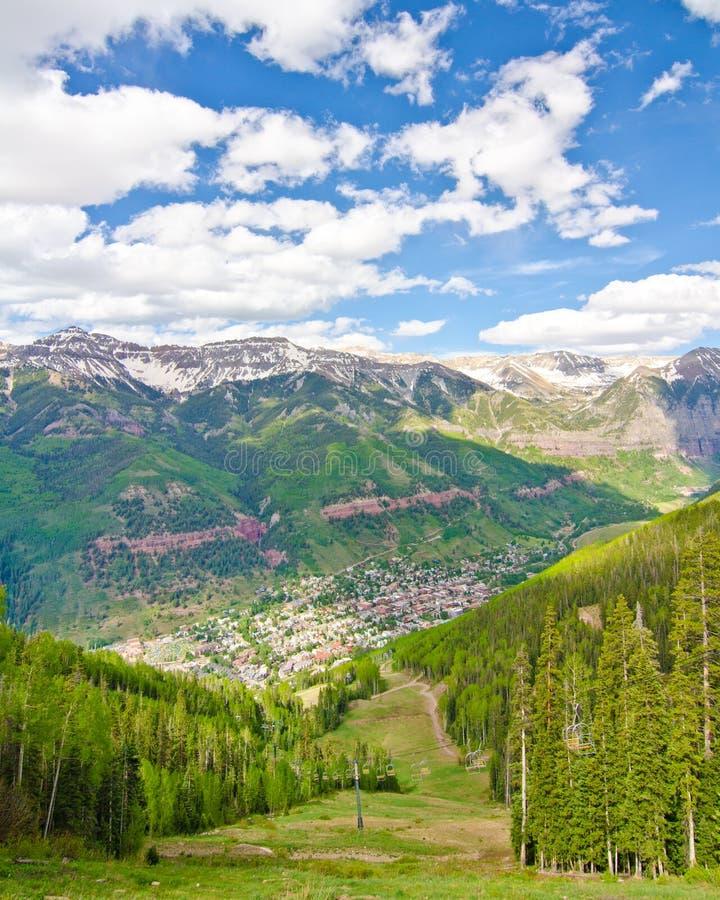 Telluride, Colorado, a cidade a mais bonita nos EUA fotos de stock royalty free